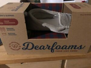 Dearfoams Womens Slippers Size Medium UK 5-6 Memory Foam BNIB