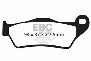 FIT HUSQVARNA TE 630 (48mm diameter Marzocchi f 10>12 EBC MOTO-X RACE BRAKE PADS
