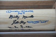 Mantle, Mays, Snider  Signed Bat