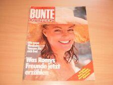 Bunte (Ö) Nr.25/1982, Romy Schneider, A.Schwarzenegger ,D,Nosbusch