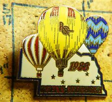 "1ST TRANS NEBRASKA HOT AIR BALLOON RACE 1988 VINTAGE METAL 1.25"" LAPEL PIN"