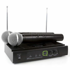 Q-audio Qwm11 Twin-channel Handheld VHF Karaoke Wireless Microphone System