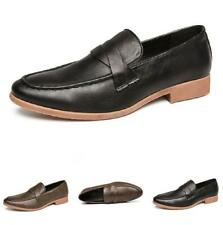 Men's Dress Formal Business Shoes Pointy Toe Slip on Oxfords Work Office Party L