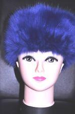 NEW Pemium Faux Fur Hat  NAVY PARIS deep blue colourNEW