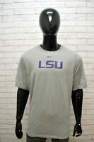 NIKE DRI FIT Uomo Maglia Grigia Taglia XL Comoda Maglietta Shirt Men Herrenhemd