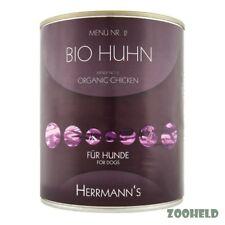 6 x 800g Bio Hundefutter glutenfrei Herrmanns Bio Huhn mit Hirse und Gemüse