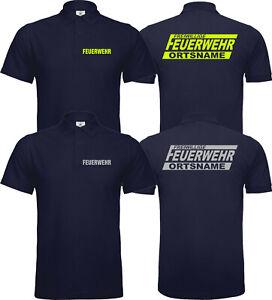Freiwillige Feuerwehr Polo Poloshirt  Reflektierend Versch Farben Eigener Name