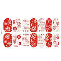 Christmas Nail Art Stickers 3D Design Manicure Tips Decals Wraps Decoration FD