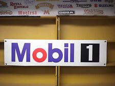 Mobil 1 oil workshop or garage advertising banner, sign etc
