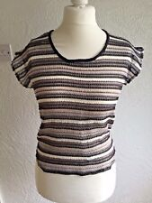 LADIES SEE THROUGH CROCHET TOP FROM ATMOSPHERE  SIZE 6 BNWT