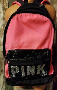VS Pink Bling Backpack, Zip Pockets