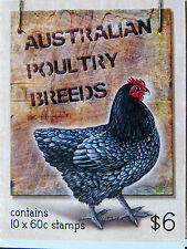 Australian Stamps: 2013 - Australian Poultry Breeds Booklet MNH