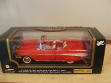 1957 Chevrolet Bel Air Convertible Red 1:18 Diecast Model timeless collection