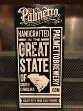 PALMETTO BREWING Co Charleston ~ HANDCRAFTED in SC ~ Beer Advertising Sign Tap