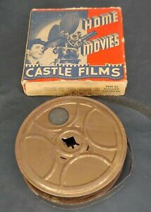 Vintage B/W Silent 100' 16mm Castle Film #133 Midway Coral Sea Battles WWII