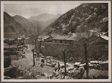 1920's CHINA GRAVURE PAGEANT OF PEKING DONALD MENNIE - NANKOU PASS