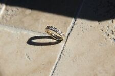 Eternity Ring, Size 5, Fabulous Condition! 14k Yellow Gold Comfort Fit Cz