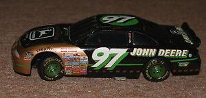 Chad Little John Deere Locking Coin Bank NASCAR  1/25  1997 diecast