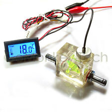 Flow scout meter & thermometer for Water Liquid cooler system CPU CO2 Laser