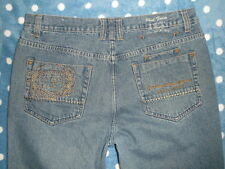 PHAT FARM 38x31 6 Pocket w/Embroidered P LOGO Denim Blue JEANS