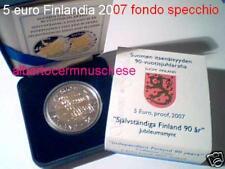 5 euro 2007 proof BE FINLANDIA Finland FINLANDE