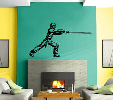 Ninja Japan Warrior FighterTribal Decor Mural Wall Art Decor Vinyl Sticker z410