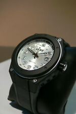 limit mens gents watch black abs case silver dial silicon strap c215n5340