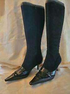 Enzo Angiolini black suede boots 9M