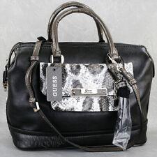 New GUESS Purse Womens Handbag Spotlight Satchel Bag Black Multi Logo Bolso NwT