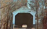 Parke County State Sanatorium Covered Bridge Little Raccoon Creek Postcard B09