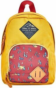 United by Blue - Youth Whittier Backpack kids Mustard campsite NEW