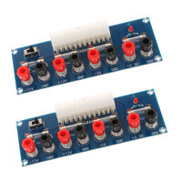 2pcs Benchtop Power Board 24-Pin Computer ATX Power Supply Breakout Adapter