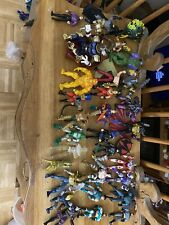 Huge action Figure Lot Of All Kinds!!! Rare And Some Broken Pieces Over 100 Figs