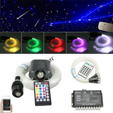 LED Fiber Optic 300x Star + 50x Meteor Car Ceiling Decor Light Kit BT APP Remote
