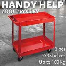 vidaXL 1/2x Workshop Tools Trolley 100kg with 2/3 Shelves Garage Carrier Cart