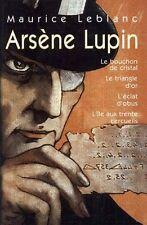 Arsene Lupin.Omnibus 4 titres.Maurice LEBLANC.France Loisirs