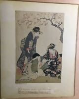 Collotype Prints, circa 1930's, Kitagawa Utamaro and Suzuki Harunobu