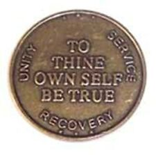 Recovery coin AA NA CA To Thine Own Self Medallion token sobriety affirmation