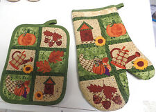 POT HOLDER AND MITT SET--FALL