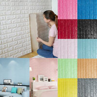 3D Modern Foam Stone Brick Self-adhesive Wallpaper Home Wall Sticker Panels Pad