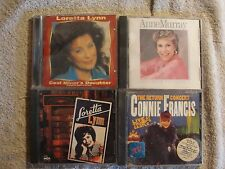 4 CD's - LORETTA LYNN, ANNE MURRAY, CONNIE FRANCIS - NICE LISTENING - P619