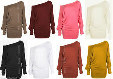 Scoop Neck Classic Batwing Tops & Shirts for Women