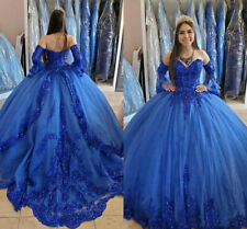 Royal Blue Princess Quinceanera Dresses Sweetheart  Sweet 16 Party Prom Dresses