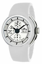 Fortis Men's 661.20.32 Si.02 Spaceleader Automatic Chronograph Rubber Watch