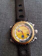 Automatikuhr NOS Style gelbes Ziffernblatt ungetragen Armbanduhr neu