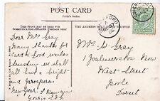 Genealogy Postcard - Family History - Gray - West Street - Poole - Dorset   W666