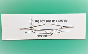 5 Perlennadeln, 100mm, Iron Big Eye Beading Needle