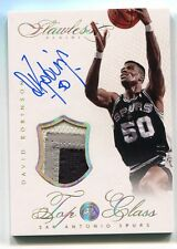 2013-14 Panini Flawless David Robinson Top of the Class Game Patch Auto 07/10
