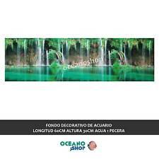 FONDO DECORATIVO de ACUARIO  longitud 60cm altura 30cm agua 1 pecera D471