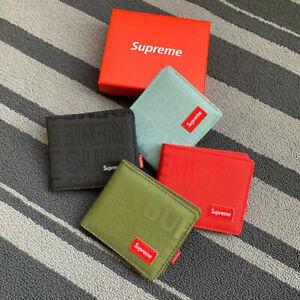 Brand New Red & Black Men Supreme Wallet【US】